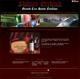 Site Internet Château Gerbaud Grand Cru Classé Saint Emilion